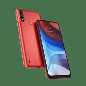 Smartphone-Moto-E7-Power-32GB-Imagem-Frontal-Curvada-Vermelho-Coral-foto-1