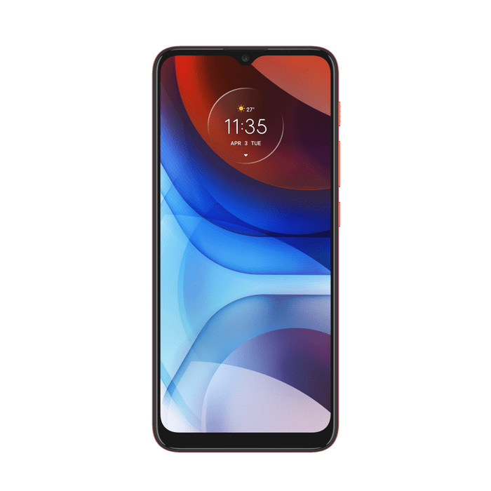 Smartphone-Moto-E7-Power-32GB-Imagem-Frontal-Vermelho-Coral-foto-2